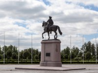 Monument to Peter I in Strelna opened on 27 May 2003. This is the third equestrian statue of Peter in St. Petersburg. Фото APHONUA - Depositphotos