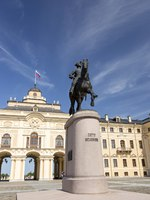 Monument to Peter I in Strelna opened on 27 May 2003. This is the third equestrian statue of Peter in St. Petersburg. Фото Nanabad - Depositphotos