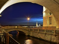 Россия. Санкт-Петербург. Зимняя канавка. Эрмитажный мост. Hermitage bridge. Winter Canal. St. Petersburg. Russia. Фото Parsadanov - Depositphotos