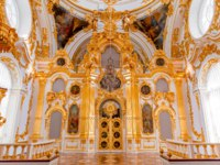 Interior of the State Hermitage, the Grand Church of the Winter Palace. Hermitage is one of the largest and oldest museums of art and culture. Фото gilmanshin-Deposit