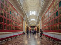Россия. Санкт-Петербург. Эрмитаж. The interior of the the State Hermitage, a museum of art and culture in Saint Petersburg, Russia. Фото paanna - Depositphotos
