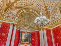 Россия. Санкт-Петербург. Эрмитаж. Petrovsky Small Throne Hall in the State Hermitage, a museum of art and culture in St Petersburg, Russia. Фото marcorubino-D
