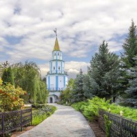 Россия. Татарстан. Раифский Богородицкий монастырь. South-east tower of Bogoroditsky Raif monastery. Kazan, Tatarstan, Russia. Фото Belikart - Depositphotos