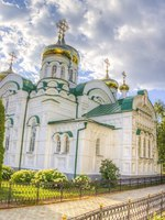 Россия. Татарстан. Раифский Богородицкий монастырь. Троицкий собор. Bogoroditsky monastery male Raifa. Kazan. Russia. Фото SergeyS - Depositphotos