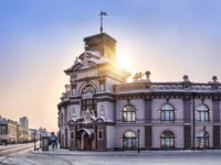 Россия. Татарстан. Казань. Beautiful building in the city centre of Kazan. Фото yulenochekk - Depositphotos
