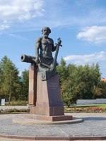 Россия. Город-герой Тула. Monument to Nikita Demidov - founder of the Tula armourers dynasty. Tula. Russia. Фото koromelena.yandex.ru - Depositphotos