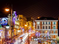 Россия. Владивосток. New Year's illumination in Vladivostok. Russia. Фото PrimDiscovery - Depositphotos