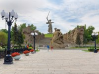 Россия. Город-герой Волгоград. Standing to the Death Square. Memorial complex Mamayev Kurgan in Volgograd. Фото ElenaOdareeva - Depositphotos