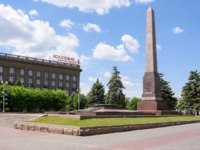 Россия. Город-герой Волгоград. Obelisk on the mass grave in the area of the Fallen Fighters, Volgograd. Фото Gaika1967 - Depositphotos