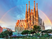 Барселона. Храм Святого Семейства (арх. А.Гауди). Sagrada Familia. Barcelona, Spain. Фото TTstudio - Depositphotos