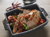 Клуб путешествий Павла Аксенова. Anantara Chiang Mai Resort & Spa. The Service 1921. Wok_Fried_Crab_with_Sichuan_Chill_Sauce