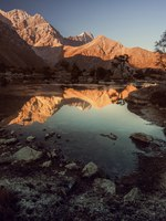 Таджикистан. Фанские горы. Landscape of beautiful rocky Fan mountains and Kulikalon lakes in Tajikistan. Фото MimishaBakhromi - Depositphotos
