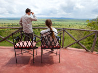 Танзания. Safari vacation. beautiful national park of Tarangire in Tanzania from balcony in lodge. Фото Shalamov - Depositphotos