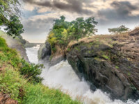 Клуб путешествий Павла Аксенова. Уганда. Река Нил. View of Murchison Falls on the Victoria Nile river National Park, Uganda. Фото dvrcan - Depositphotos
