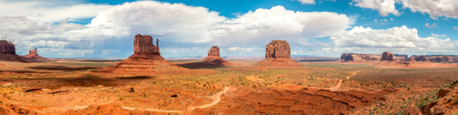 США. Долина монументов. Monument Valley Panorama USA, Arizona beautiful landscape. Фото milosk50 - Depositphotos