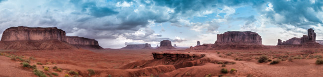 США. Долина монументов. Monument Valley Panorama USA, Arizona beautiful landscape. Фото weltreisendertj - Depositphotos