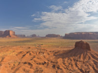 США. Долина монументов. Monument Valley aerial sky view from balloon. Фото izanbar - Depositphotos