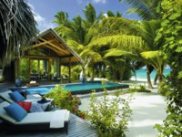 Мальдивы. Shangri-La's Villingili Resort & Spa, Maldives.  Beach Villa - private pool and beach