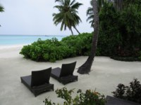 Мальдивы. Shangri-La's Villingili Resort & Spa, Maldives. Beach Villa. Фото Павла Аксенова