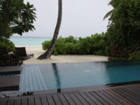 Мальдивы. Shangri-La's Villingili Resort & Spa, Maldives. Beach Villa. Фото Александра Синицына