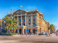 Испания. Каталония. Барселона. Building of the military government (Gobierno militar), Barcelona, Catalonia, Spain. Фото marcorubino - Depositphotos