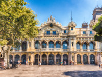 Испания. Каталония. Барселона. Port authority building in Barcelona, Catalonia, Spain. Фото marcorubino - Depositphotos